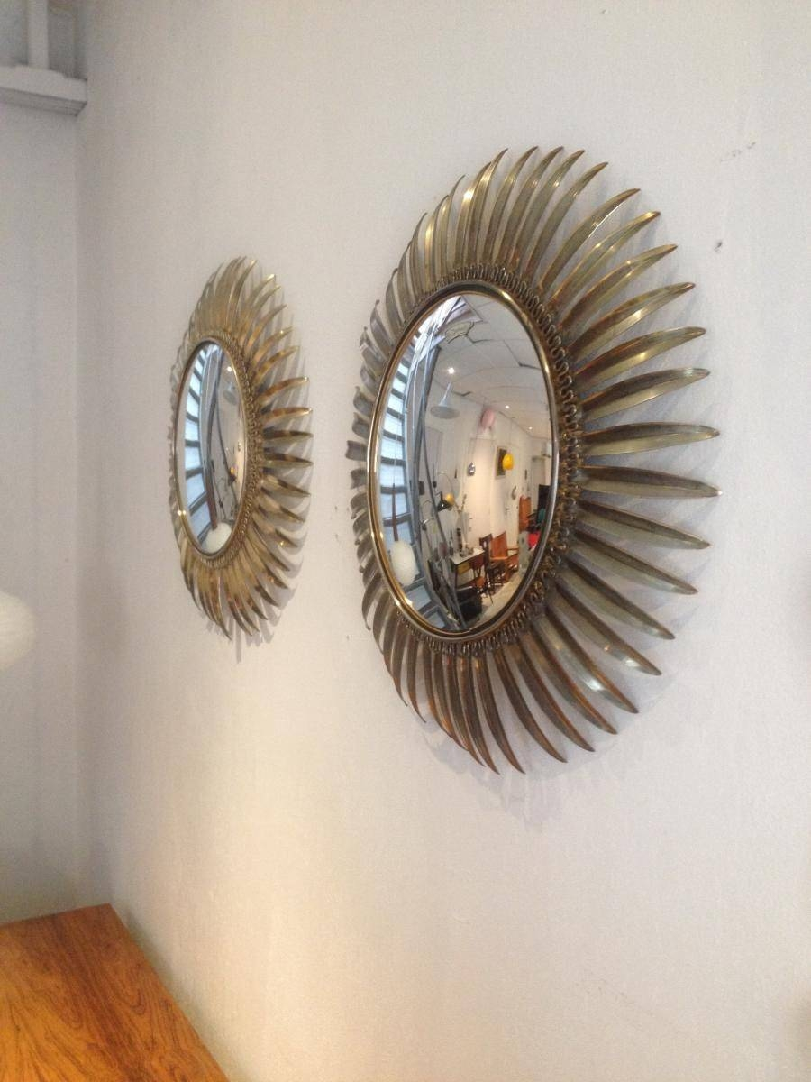 Hollywood Brass Sun Mirrors, Set Of 2 For Sale At Pamono regarding Sun Mirrors (Image 8 of 25)