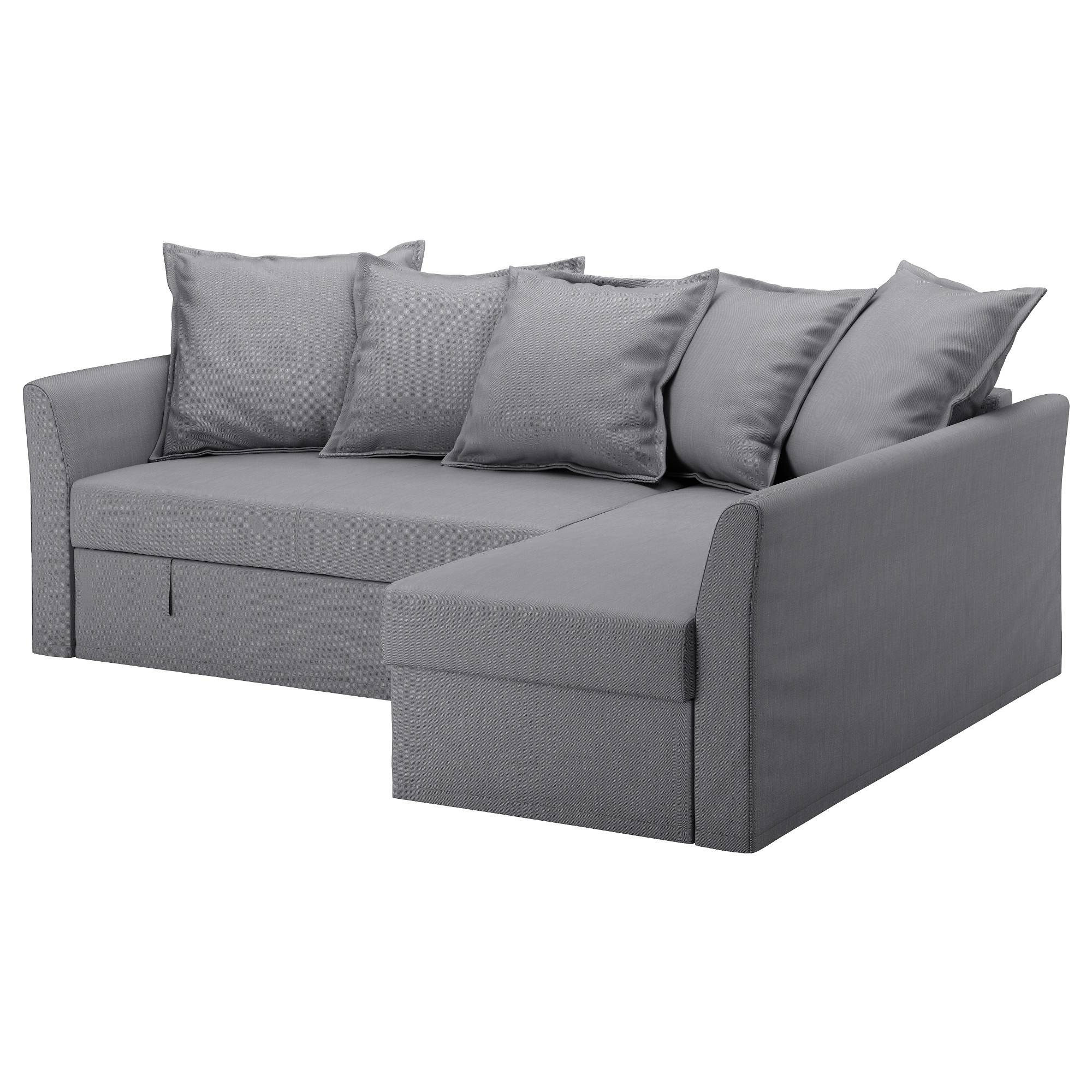 Holmsund Corner Sofa-Bed Nordvalla Medium Grey - Ikea with regard to Corner Couch Bed (Image 21 of 30)