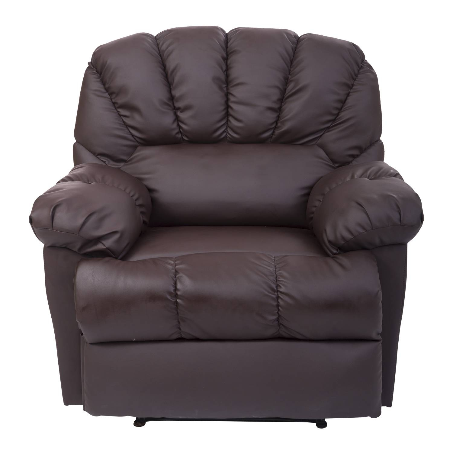 Homcom Pu Leather Vibrating Massage Sofa Chair Recliner - Brown intended for Sofa Chair Recliner (Image 15 of 30)