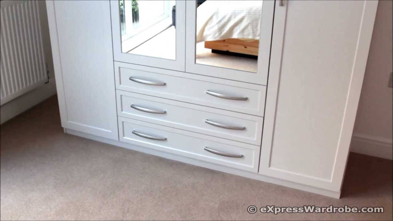 Home Brand Oslo 4-Door, 3-Drawer Mirrored Wardrobe From Very - Youtube for Mirrored Wardrobes With Drawers (Image 3 of 15)