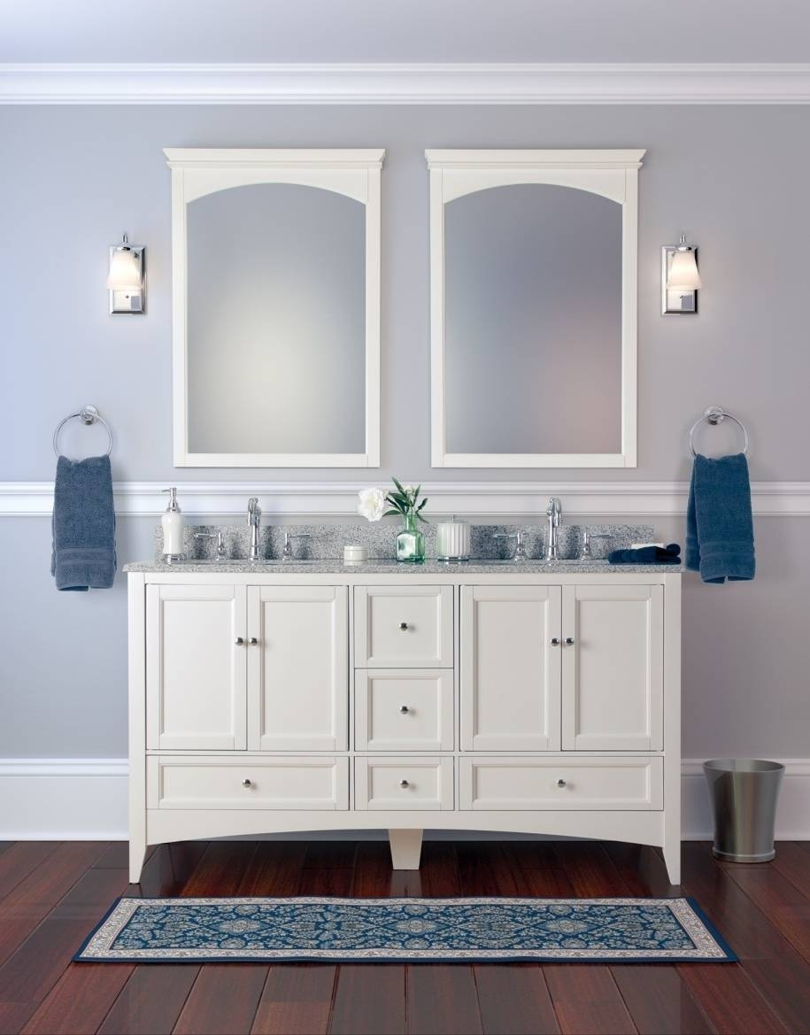 Home Decor : Framed Bathroom Vanity Mirrors Grey Bathroom Wall inside Vintage Style Mirrors (Image 18 of 25)