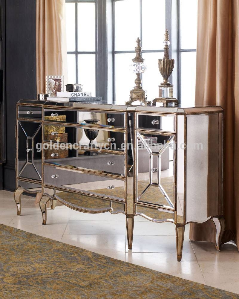 Home Decor Venetian Mirrored Sideboard Cabinet - Buy Home Decor for Venetian Mirrored Sideboards (Image 5 of 30)