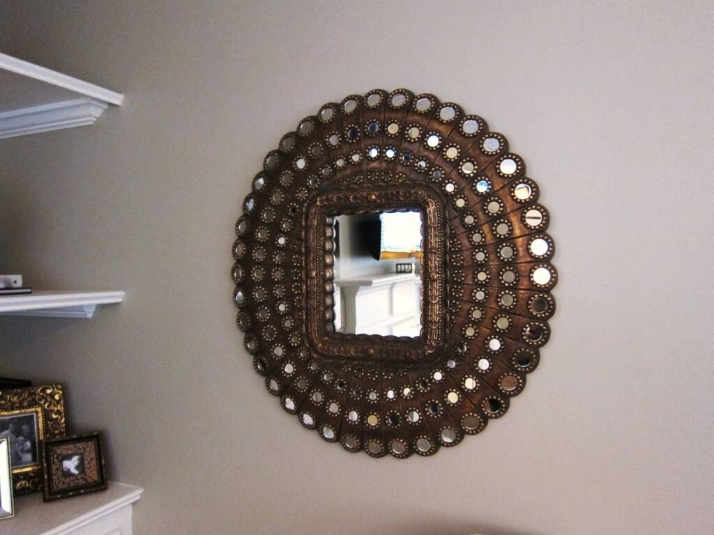Home Decoration: Interesting Round Decorative Wall Mirror And Wall for Interesting Wall Mirrors (Image 12 of 25)