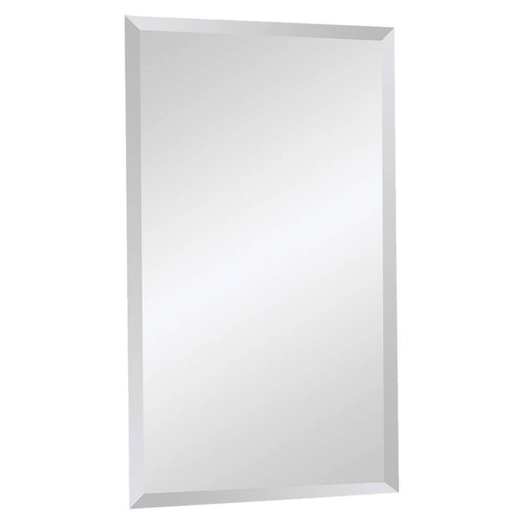 Home Decoration: Modern Frameless Full Length Bathroom Mirror And for No Frame Wall Mirrors (Image 3 of 25)
