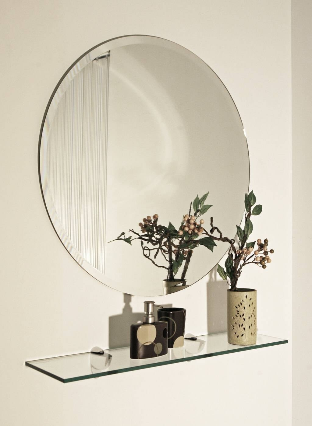 Home Decoration: Spectacular Double Frameless Mirror And Double for Large Frameless Wall Mirrors (Image 7 of 25)