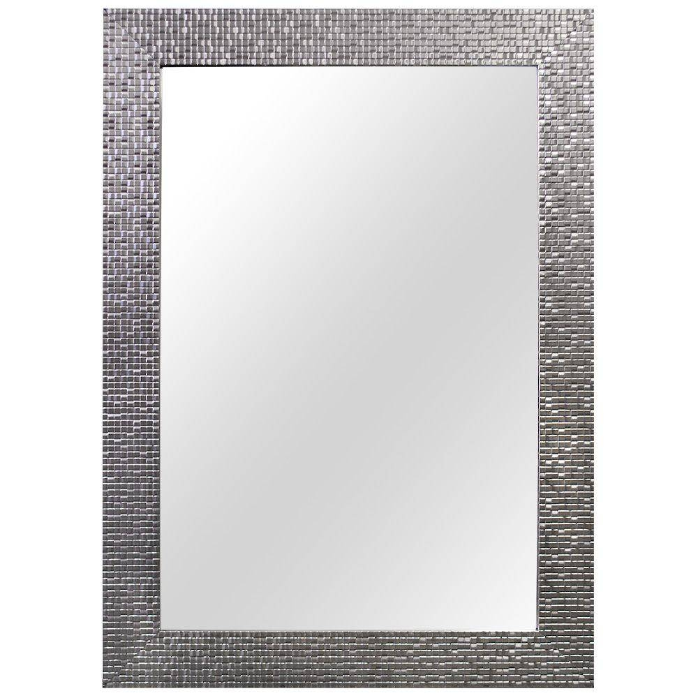 Home Decorators Collection 24.35 In. W X 35.35 In. L Framed Fog pertaining to Silver Mirrors (Image 9 of 25)