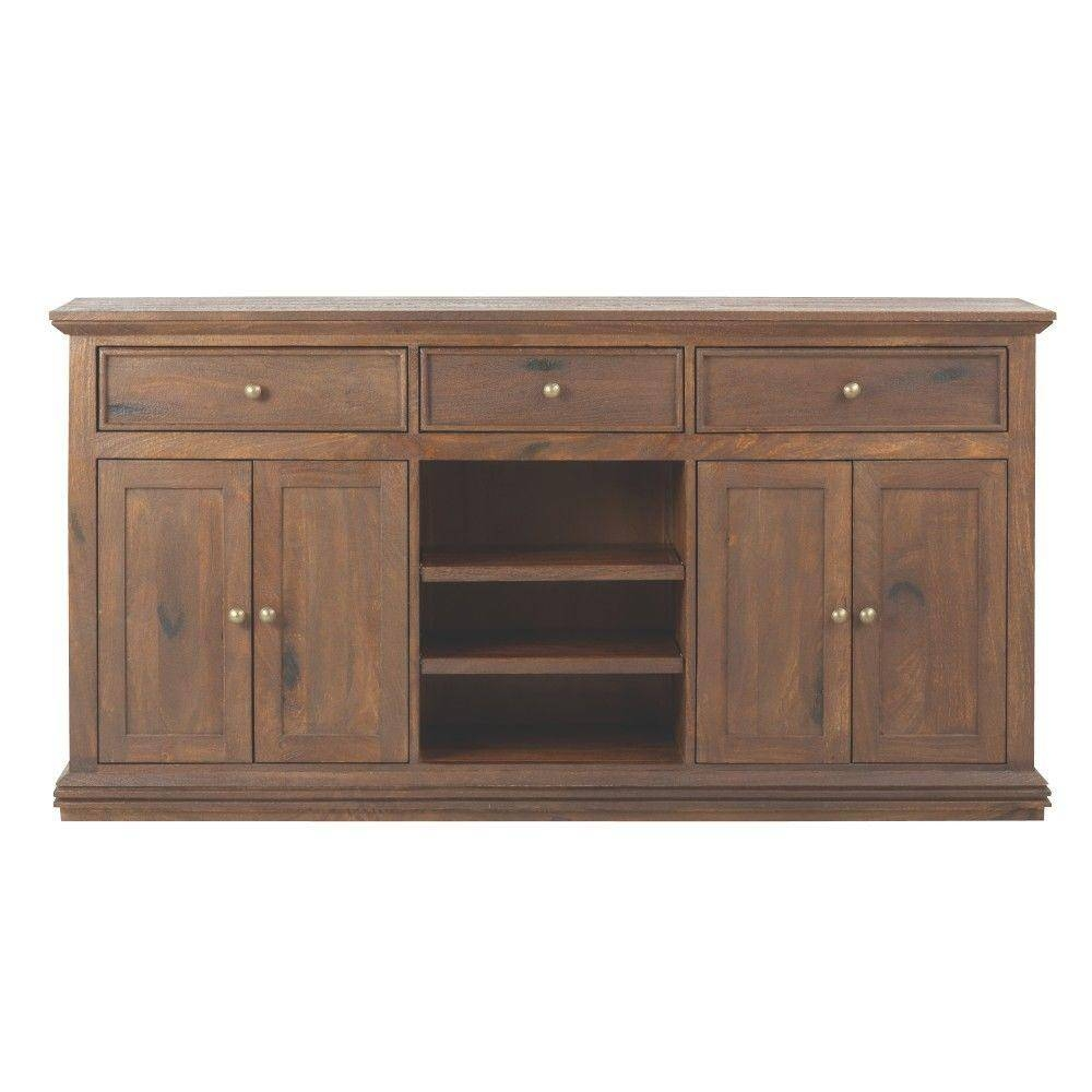 Home Decorators Collection Aldridge Antique Walnut Buffet regarding Grey Wood Sideboards (Image 11 of 30)