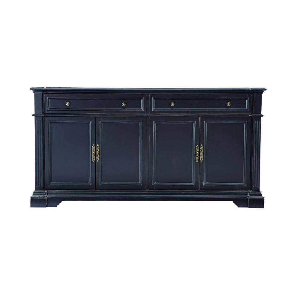 Home Decorators Collection Bufford Antique Black Buffet-9485300210 regarding Cheap Black Sideboards (Image 11 of 30)