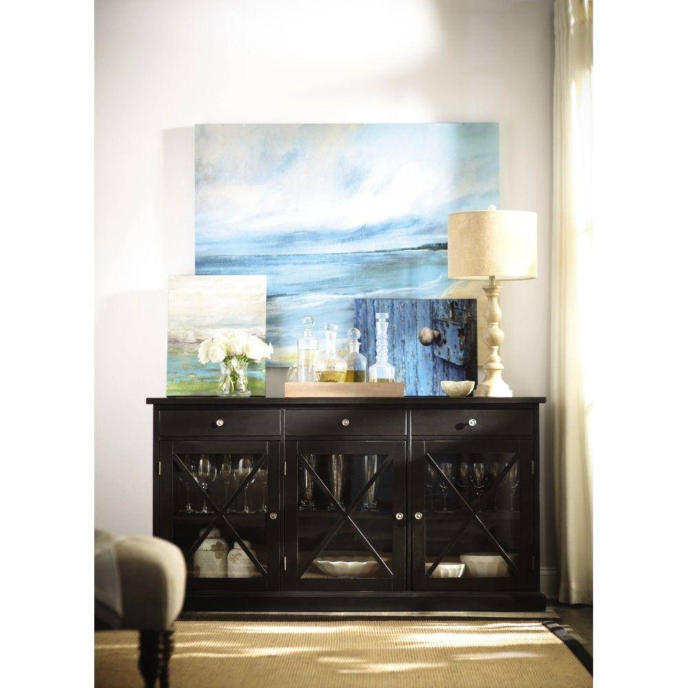 Home Decorators Collection Hampton Black Buffet-1926000950 - The throughout Black Sideboards (Image 9 of 30)