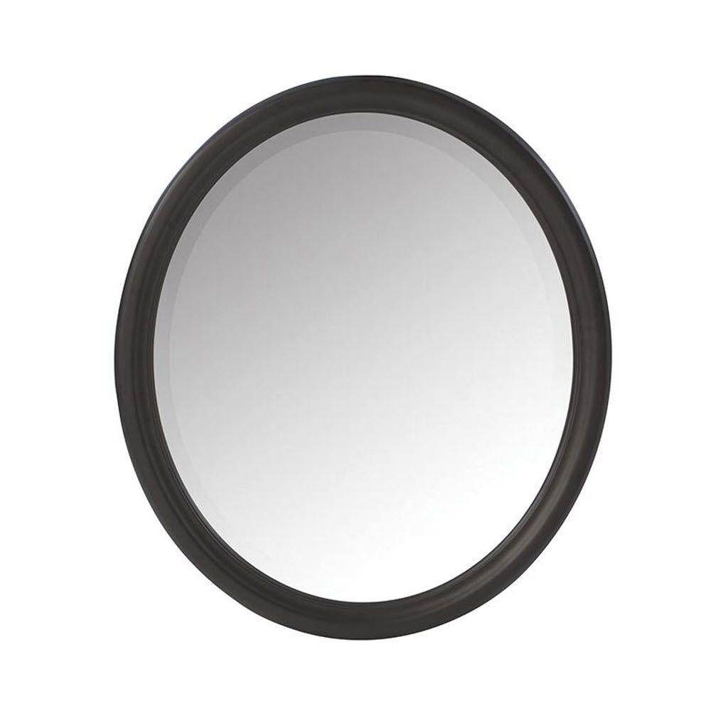 Home Decorators Collection Newport 32 In. H X 28 In. W Framed Wall pertaining to Oval Black Mirrors (Image 9 of 25)