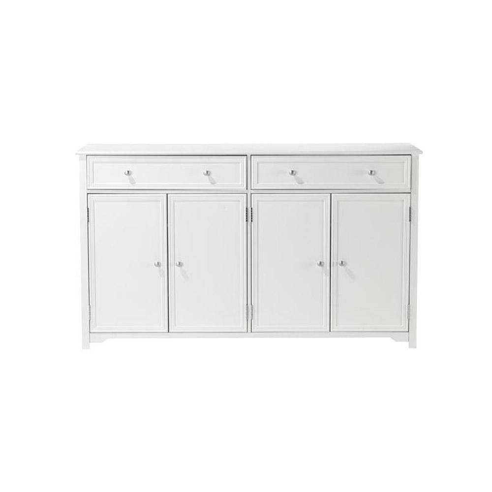 Home Decorators Collection Oxford White Buffet-0829500410 - The inside White Sideboard Cabinets (Image 13 of 30)