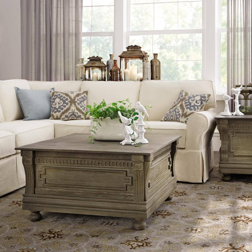 Home Decorators Collection Parker Washed Grey Built In Storage In Storage Coffee Tables (View 22 of 30)