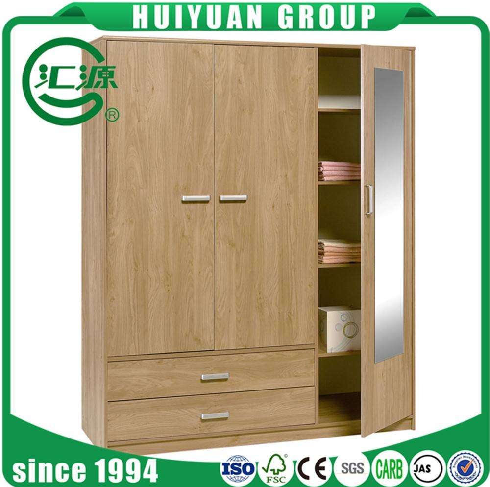 Home Furniture Wood Almirah Designs 4 Door Wardrobe Cabinet Cheap throughout Cheap 4 Door Wardrobes (Image 4 of 15)