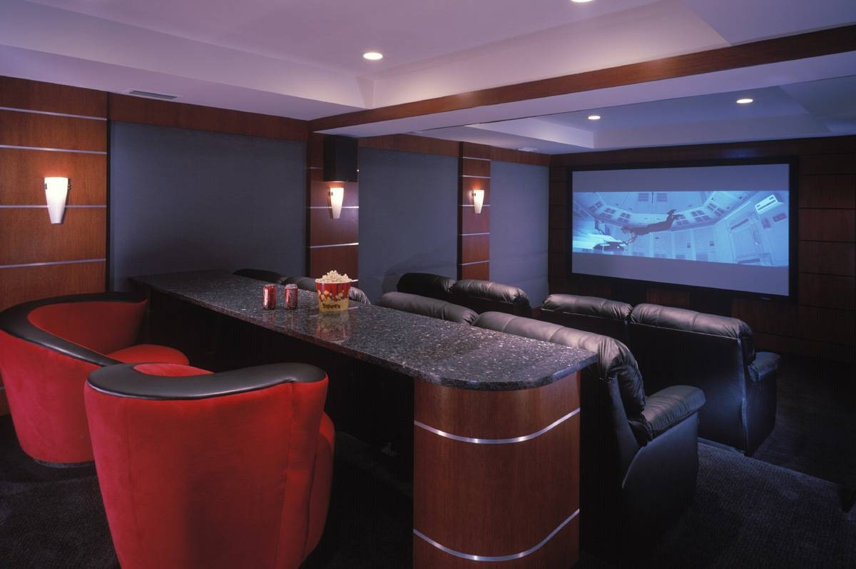 Home Theater Design And Installation | Homesfeed intended for Theater Room Sofas (Image 10 of 30)