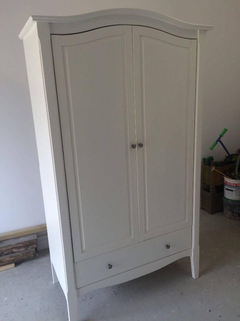 Homebase Provence Double Wardrobe White Pine & Mdf - Shabby Chic pertaining to White Double Wardrobes (Image 7 of 15)