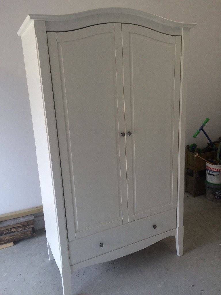 Homebase Provence Double Wardrobe White Pine & Mdf - Shabby Chic with regard to Double Pine Wardrobes (Image 13 of 15)