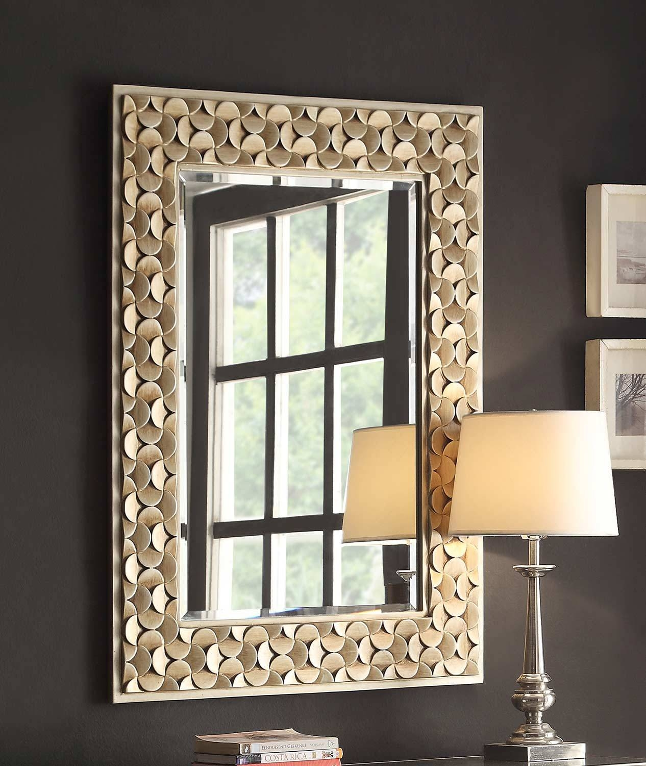 Homelegance Avadore Wall Mirror - Champagne With Mirror Top And inside Champagne Wall Mirrors (Image 11 of 25)