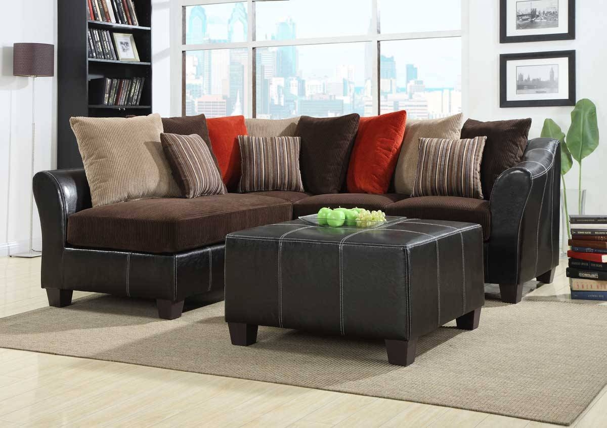 Homelegance Besty Modular Sectional Sofa Set - Chocolate Corduroy regarding Chocolate Brown Sectional Sofa (Image 19 of 30)