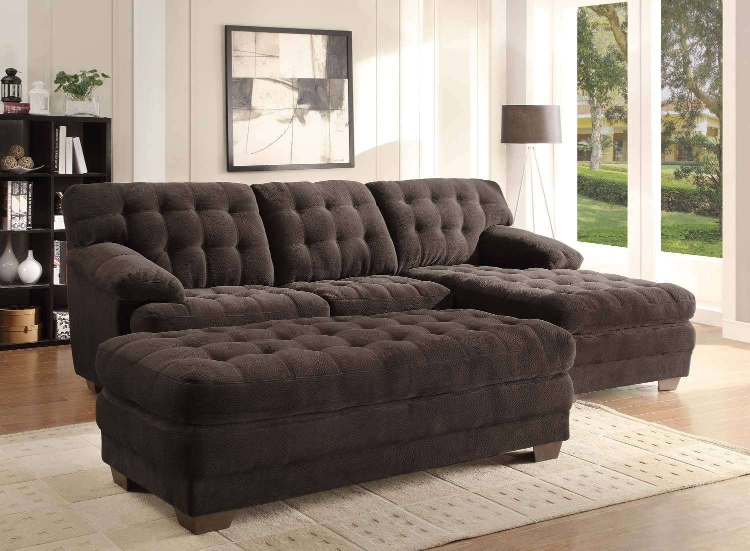 Homelegance Brooks Sectional Sofa Set - Chocolate - Champion with Champion Sectional Sofa (Image 10 of 30)