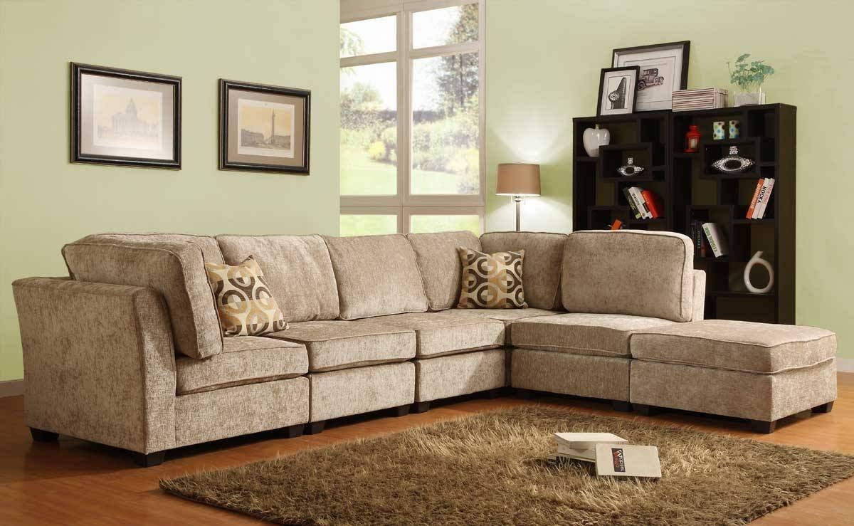 Homelegance Burke Sectional Sofa Set A - Brown Beige Chenille in Chenille Sectional Sofas (Image 13 of 30)