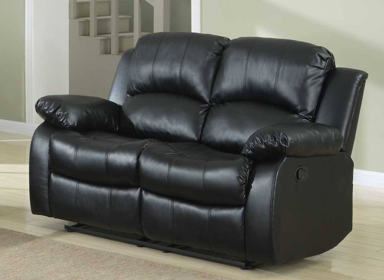 Homelegance Cranley Reclining Sofa Set - Black Bonded Leather for Recliner Sofa Chairs (Image 17 of 30)
