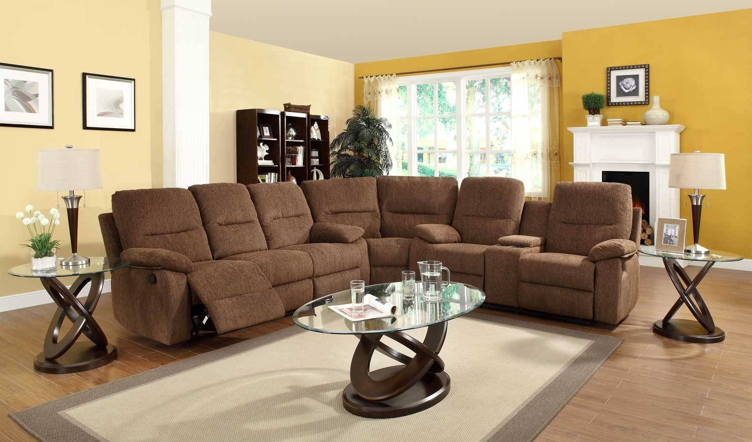 Homelegance Marianna Modular Reclining Sectional Sofa Set - Dark with regard to Recliner Sectional Sofas (Image 19 of 30)