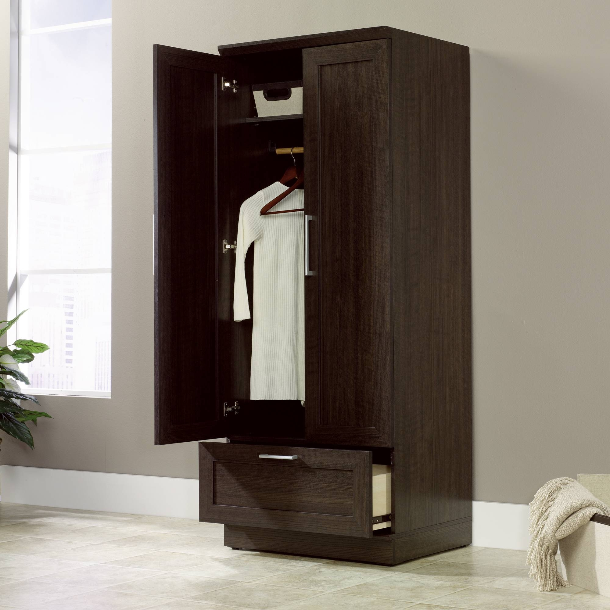 Homeplus | Wardrobe Storage Cabinet | 411312 | Sauder for Oak Wardrobe With Drawers And Shelves (Image 17 of 30)