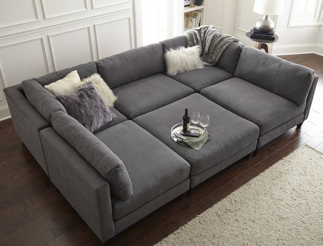 Homesean & Catherine Lowe Chelsea Sleeper Sectional & Reviews within Pit Sofas (Image 14 of 30)