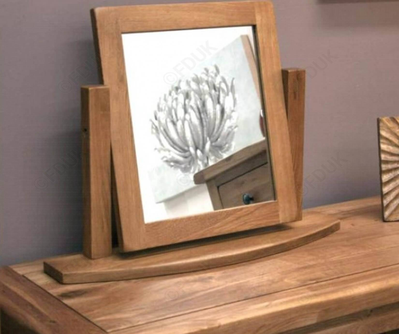 Homestyle Gb | Rustic Oak Dressing Table Mirror inside Rustic Oak Mirrors (Image 7 of 25)