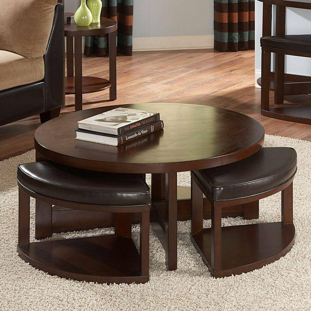 Homesullivan Warm Brown Cherry Coffee Table 403292 01(Mtl) – The Within Coffee Tables With Seating And Storage (View 17 of 30)