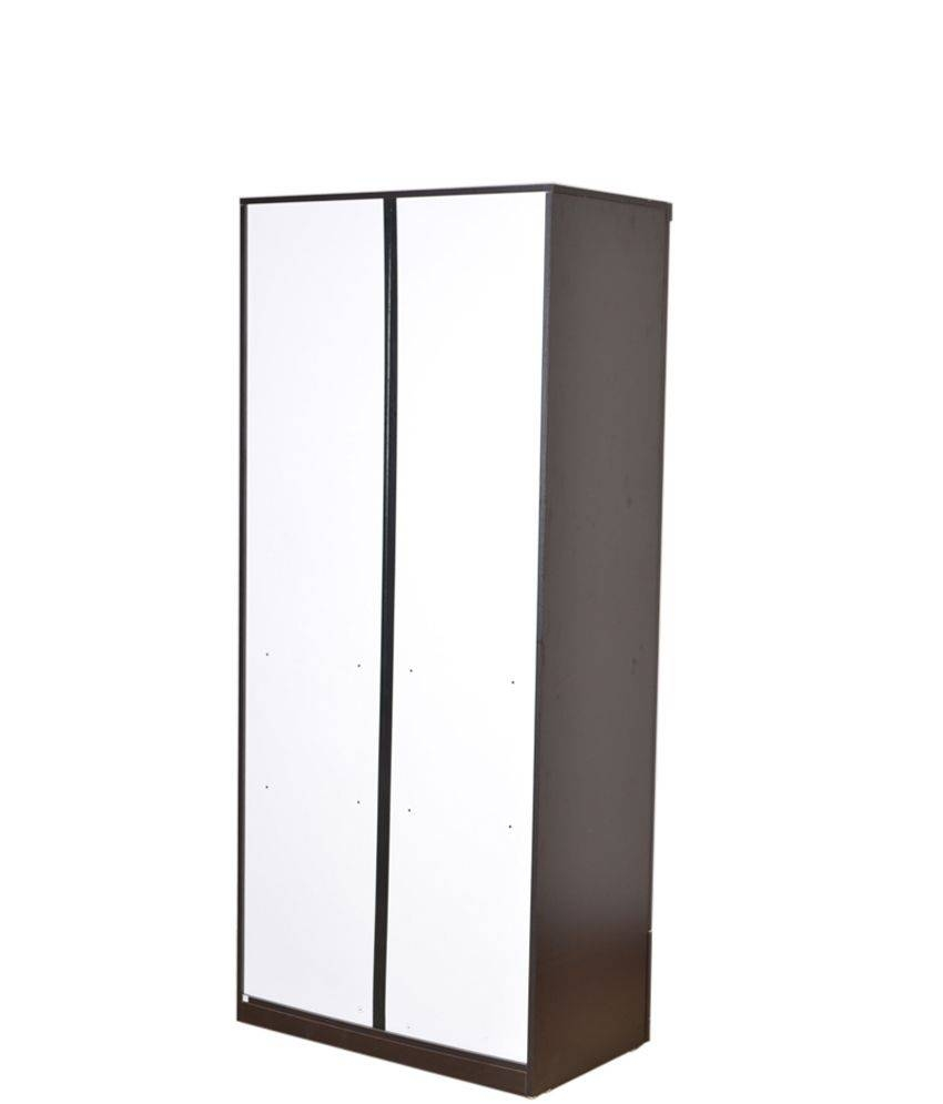 Hometown Utsav 2 Door Wardrobe With Mirror: Buy Online At Best within One Door Wardrobes With Mirror (Image 5 of 15)