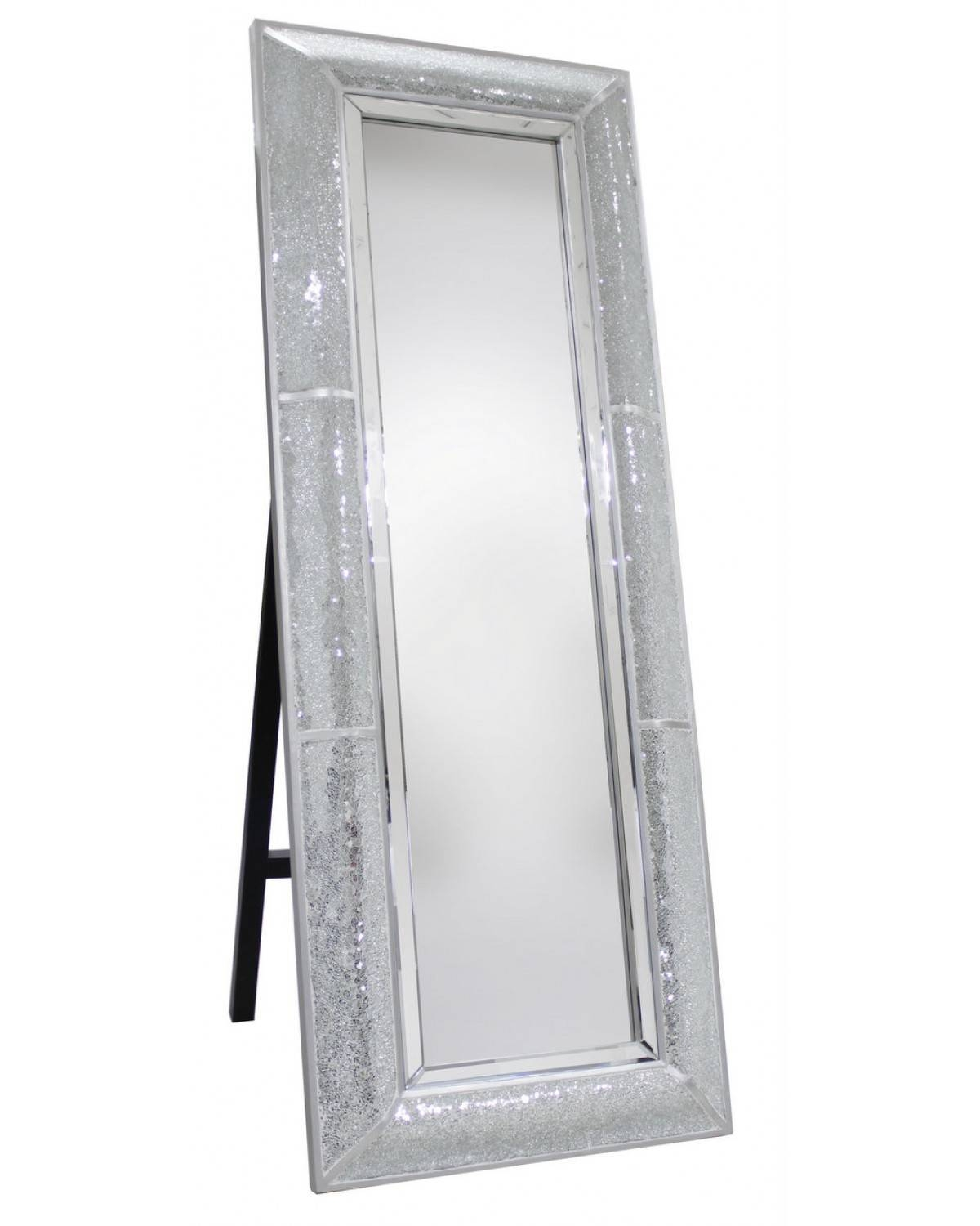 Homeware: Floor Length Mirrors | Cheap Full Length Mirrors Sale with Silver Floor Standing Mirrors (Image 16 of 25)