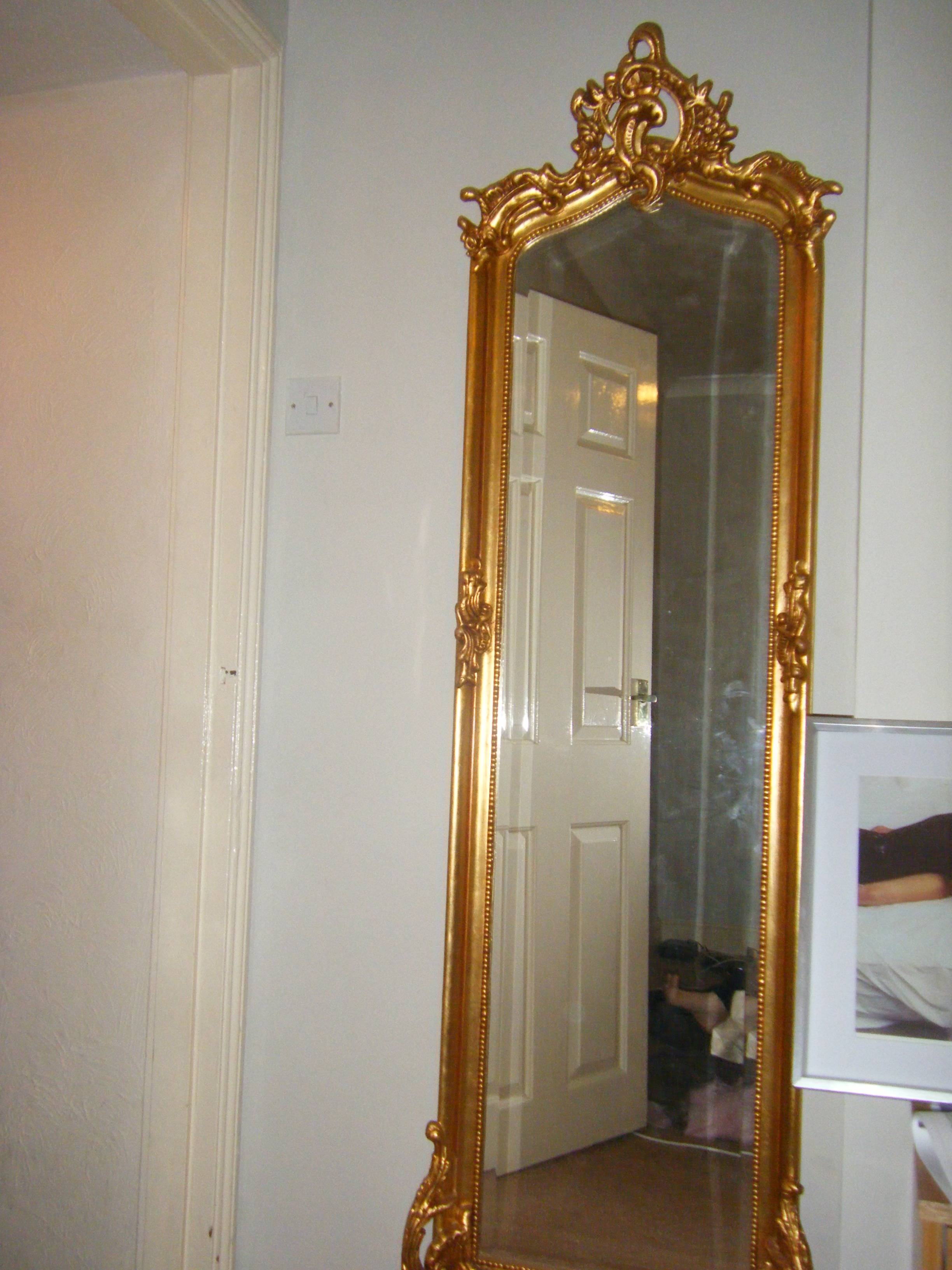 Homeware: Oval Full Length Standing Mirror | Large Floor Mirrors for Full Length Vintage Standing Mirrors (Image 22 of 25)