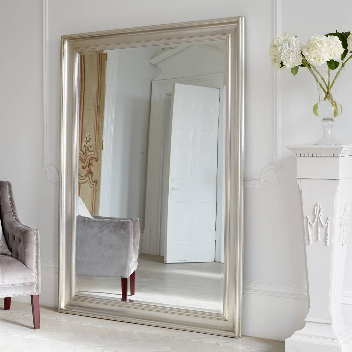 Homeware: Oval Full Length Standing Mirror | Large Floor Mirrors inside Large Floor Standing Mirrors (Image 16 of 25)