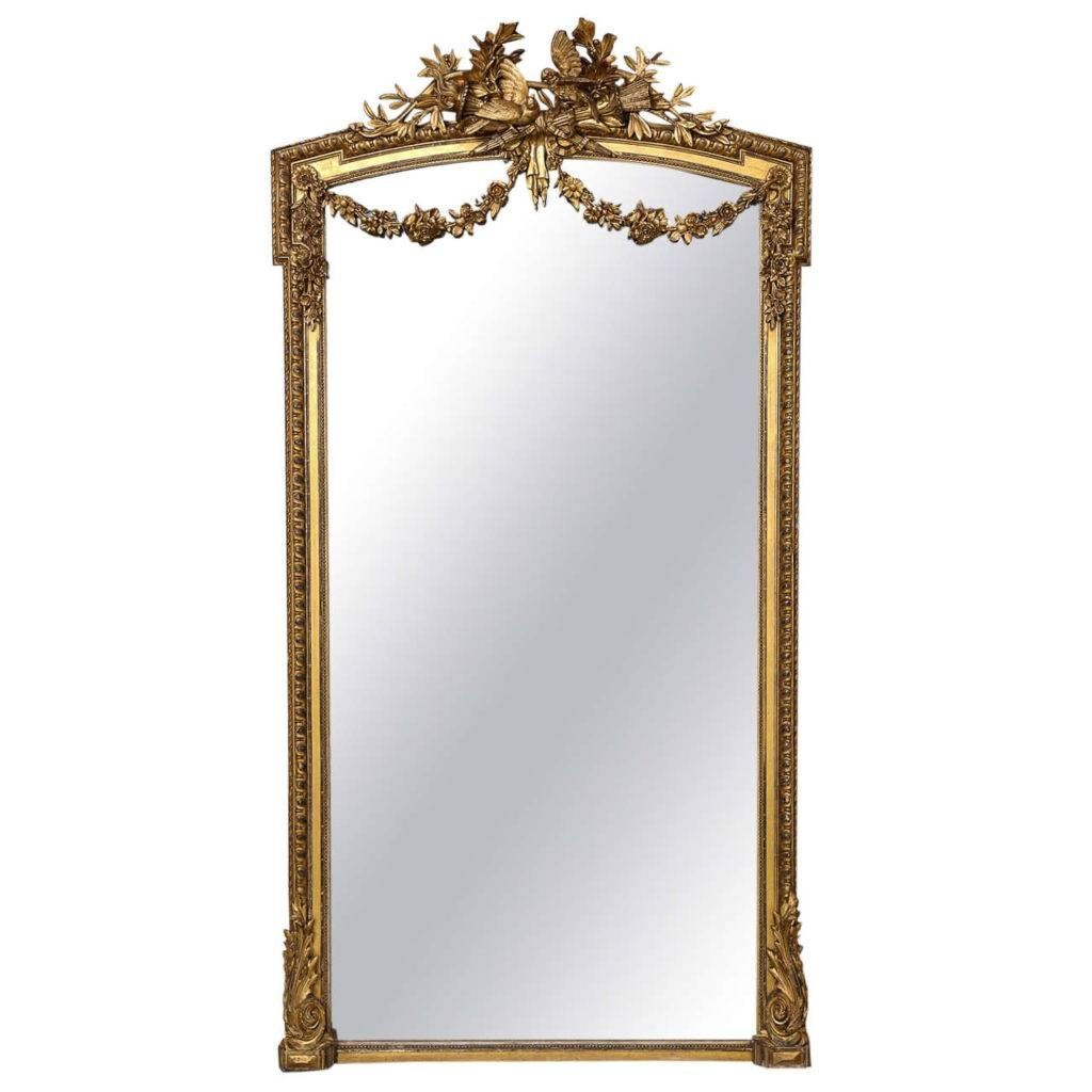 Homeware: Oval Full Length Standing Mirror | Large Floor Mirrors throughout Antique French Floor Mirrors (Image 20 of 25)