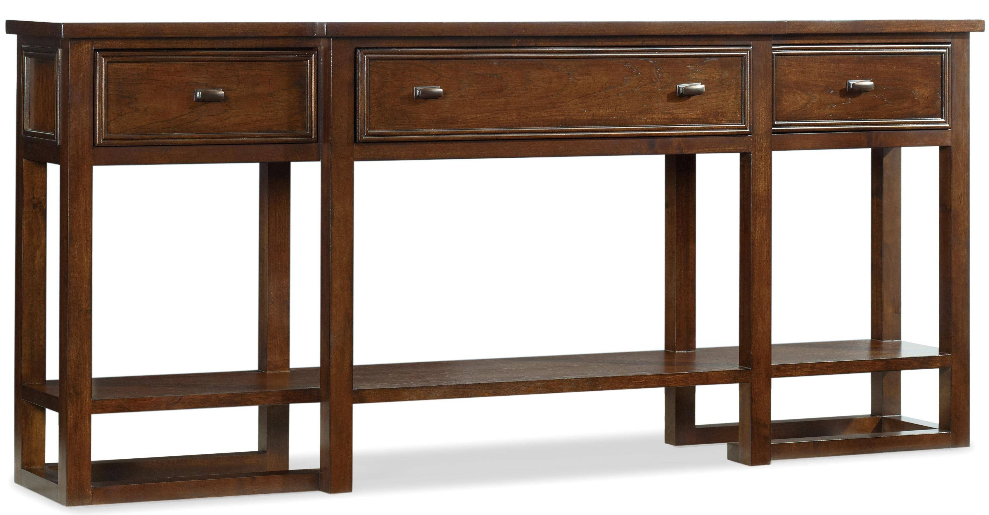 Hooker Furniture Lorimer 72-Inch Sofa Table With Breakfront, 3 intended for Sofa Table Drawers (Image 12 of 30)