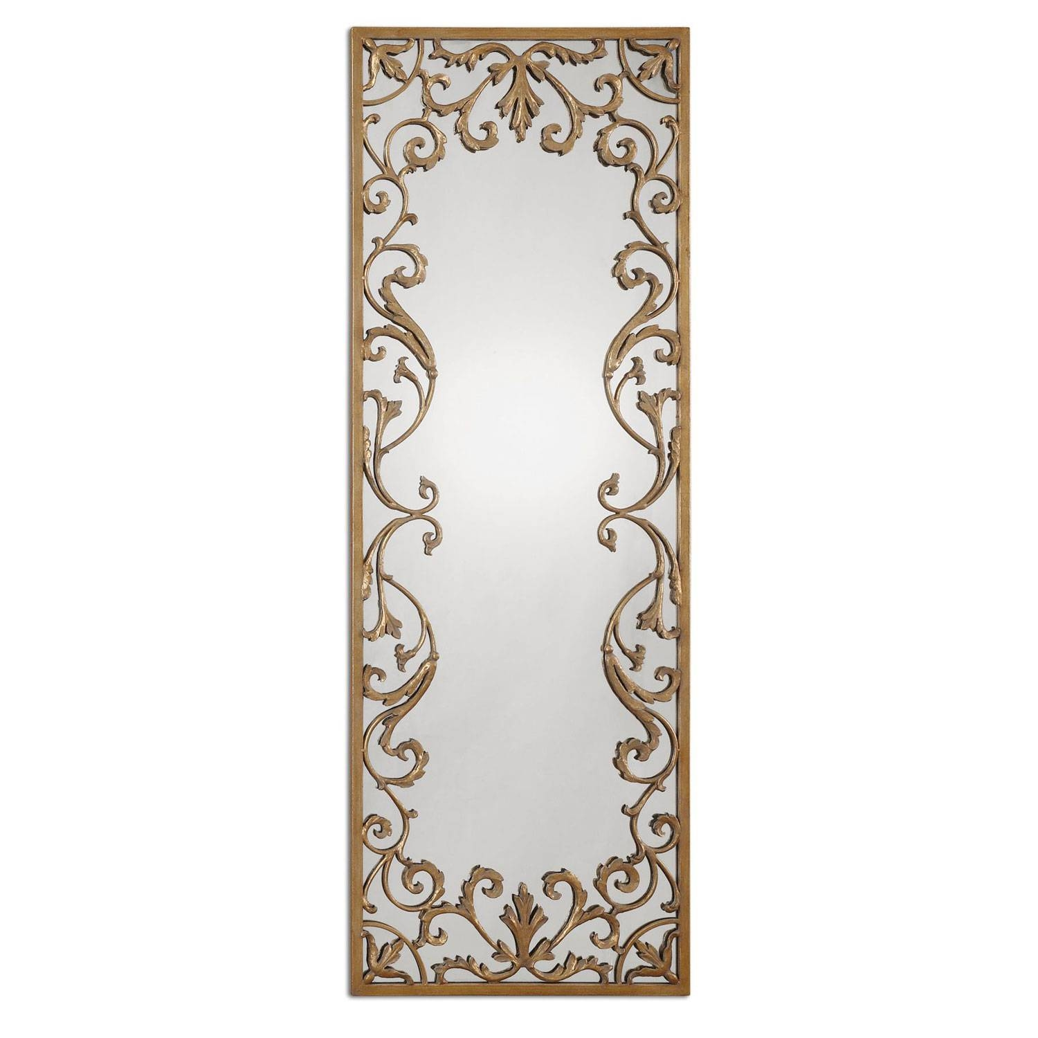 Horizontal Antique Gold Mirror | Bellacor with Gold Antique Mirrors (Image 17 of 25)