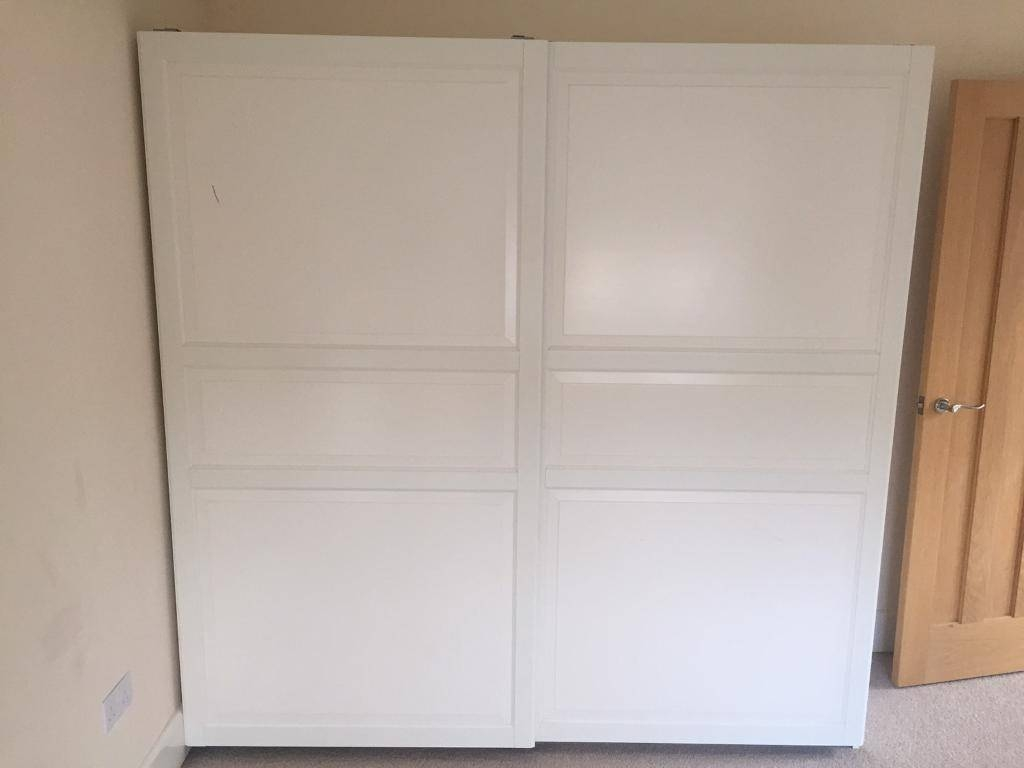 House Clearance Ikea Pax Wardrobe -Double Sliding Doors, Hanging inside Double Rail Wardrobe With Drawers (Image 14 of 30)