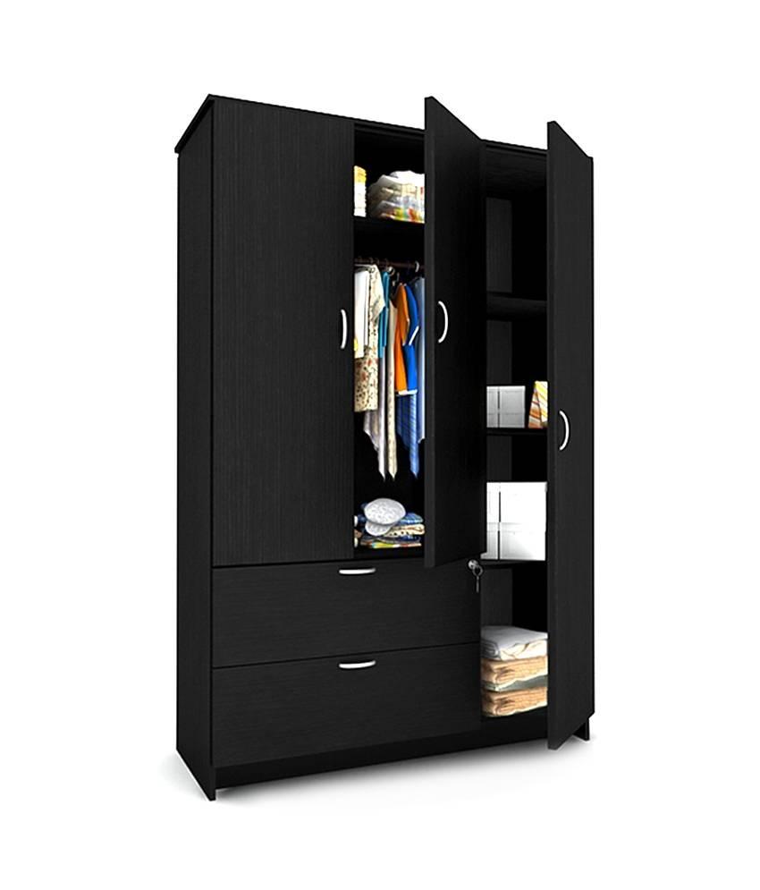 Housefull Marc 3 Door Wardrobe With Drawers: Buy Online At Best within 3 Door Wardrobe With Drawers And Shelves (Image 18 of 30)