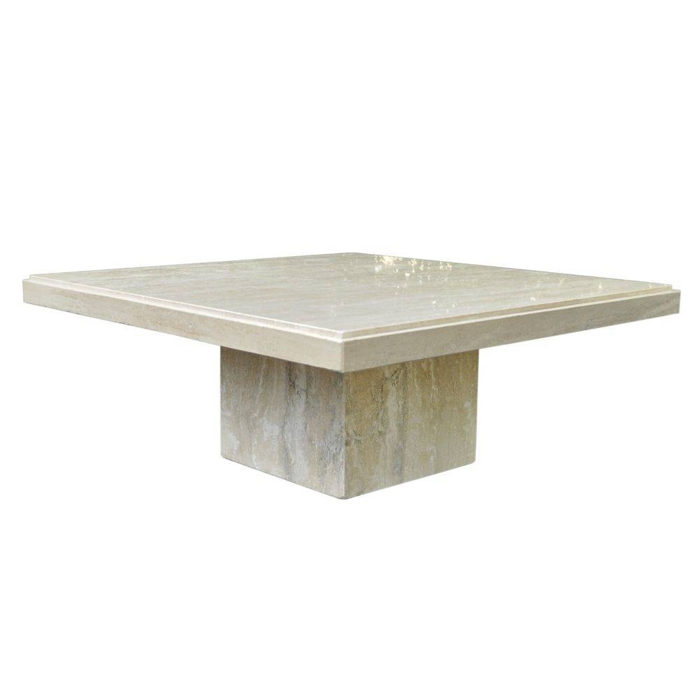 How Make Travertine Coffee Table | Porch & Living Room With Square Stone Coffee Tables (View 16 of 30)