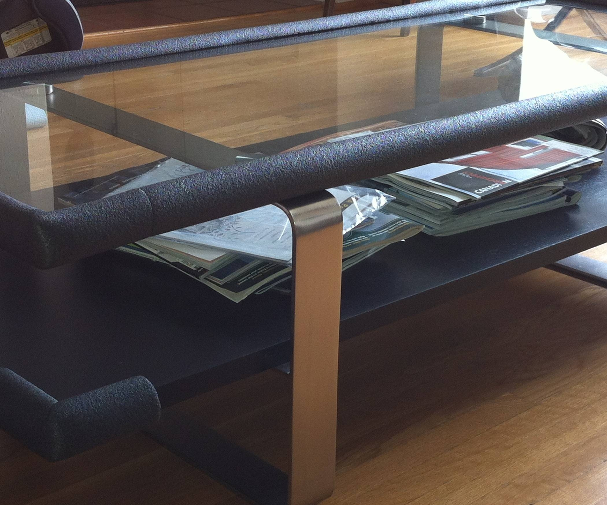 How To Baby Proof Sharp Corners On The Cheap!!! For Baby Proof Coffee Tables Corners (View 2 of 30)