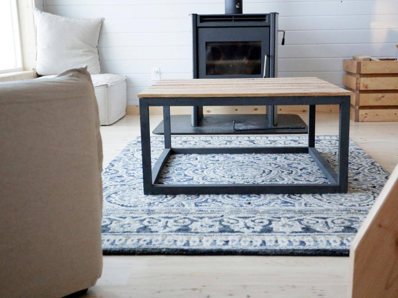 How To Build A Modern Industrial Coffee Table | How-Tos | Diy with Range Coffee Tables (Image 19 of 30)