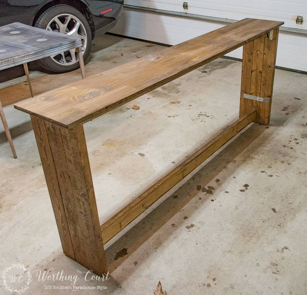 How To Build A Rustic Sofa Table - Worthing Court in Sofa Back Console (Image 16 of 30)