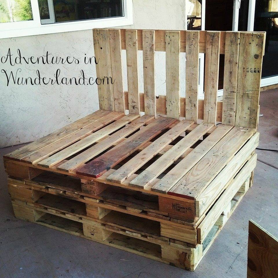 How To Build An Outdoor Couch With Pallets: Part 1 pertaining to Building A Sectional Sofa (Image 24 of 30)