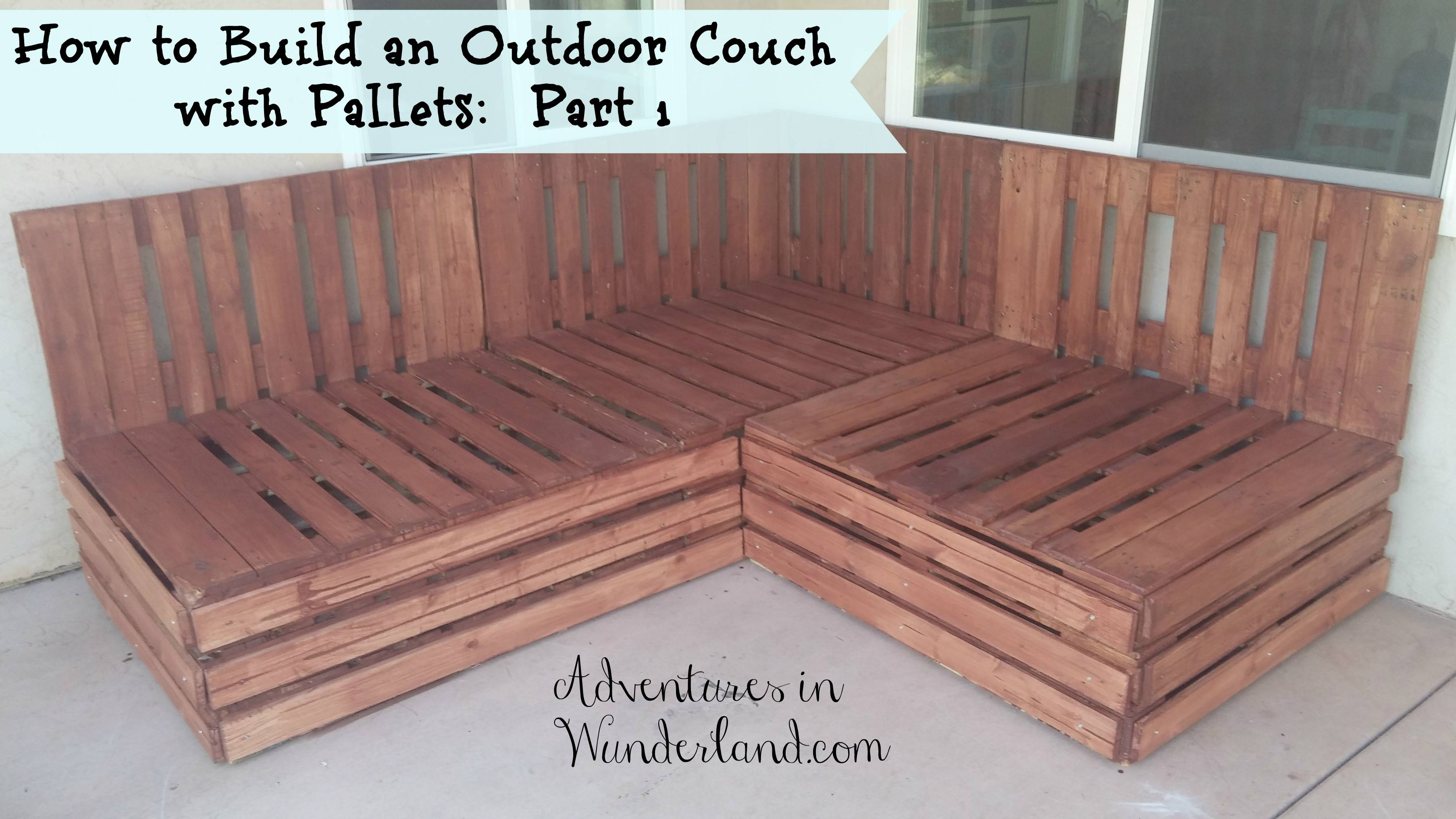 How To Build An Outdoor Couch With Pallets: Part 1 pertaining to Building A Sectional Sofa (Image 23 of 30)
