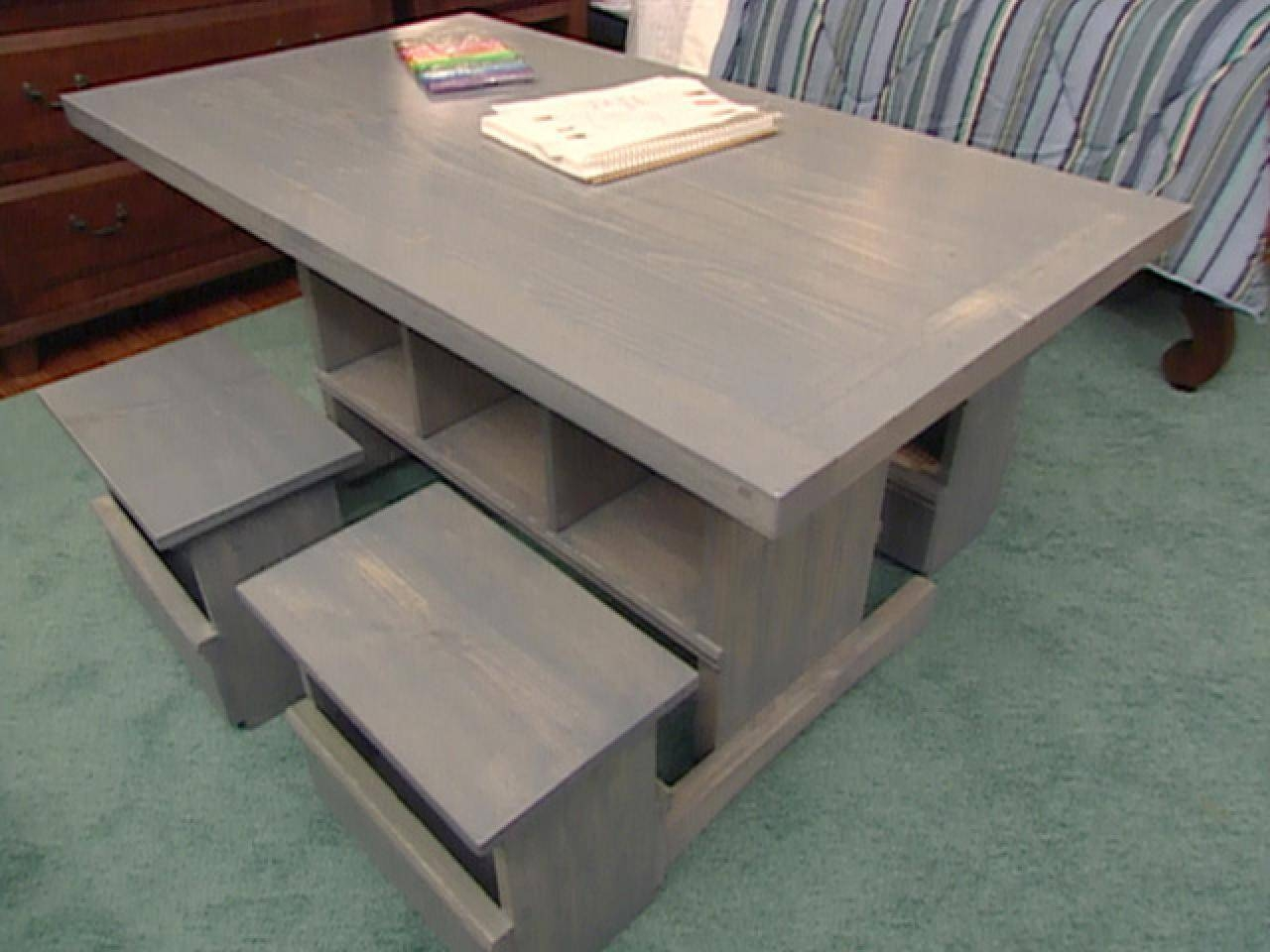 How To Build Child Sized Table And Stools | Hgtv With Regard To Kids Coffee Tables (View 13 of 30)