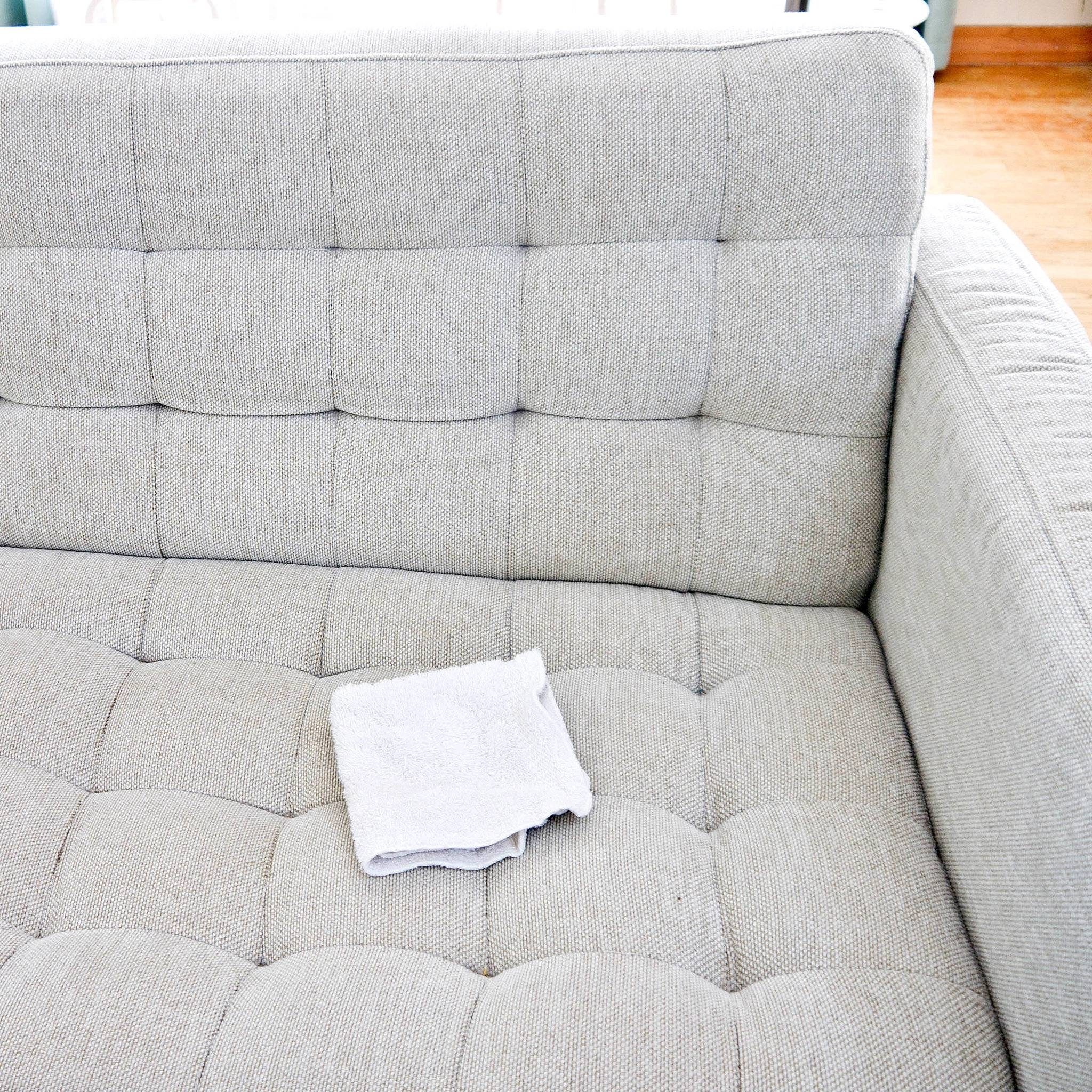 How To Clean A Natural-Fabric Couch | Popsugar Smart Living with regard to Upholstery Fabric Sofas (Image 13 of 30)