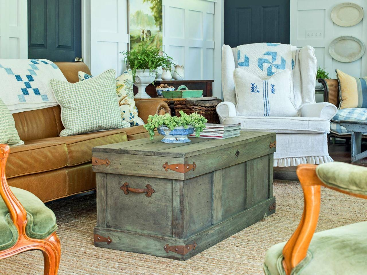 How To Construct A Rustic Trunk-Style Coffee Table | Hgtv in Rustic Style Coffee Tables (Image 22 of 30)