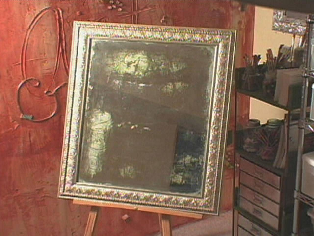 How To Create An Antique Renaissance Mirror   Hgtv for Reproduction Antique Mirrors (Image 23 of 25)
