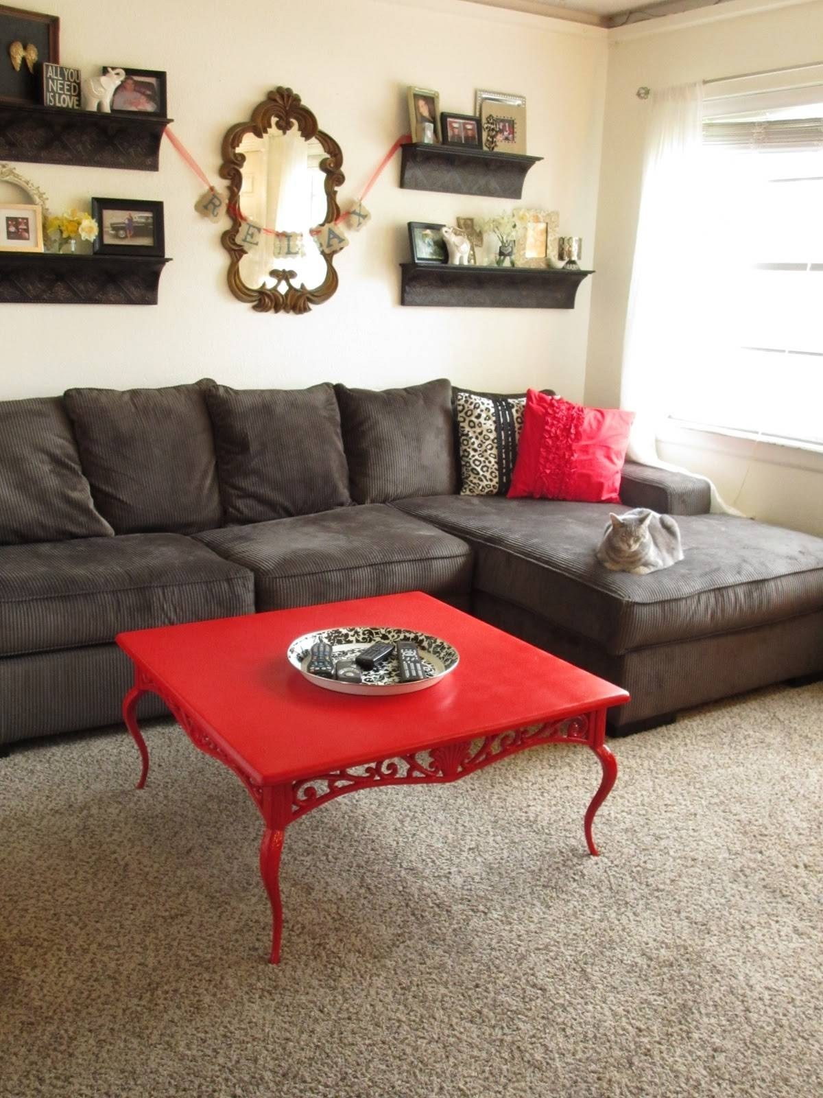How To Decorate A Living Room With A Red Coffee Table — The Home pertaining to Red Coffee Table (Image 14 of 30)
